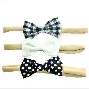 Variety Three Pack Bow Headbands